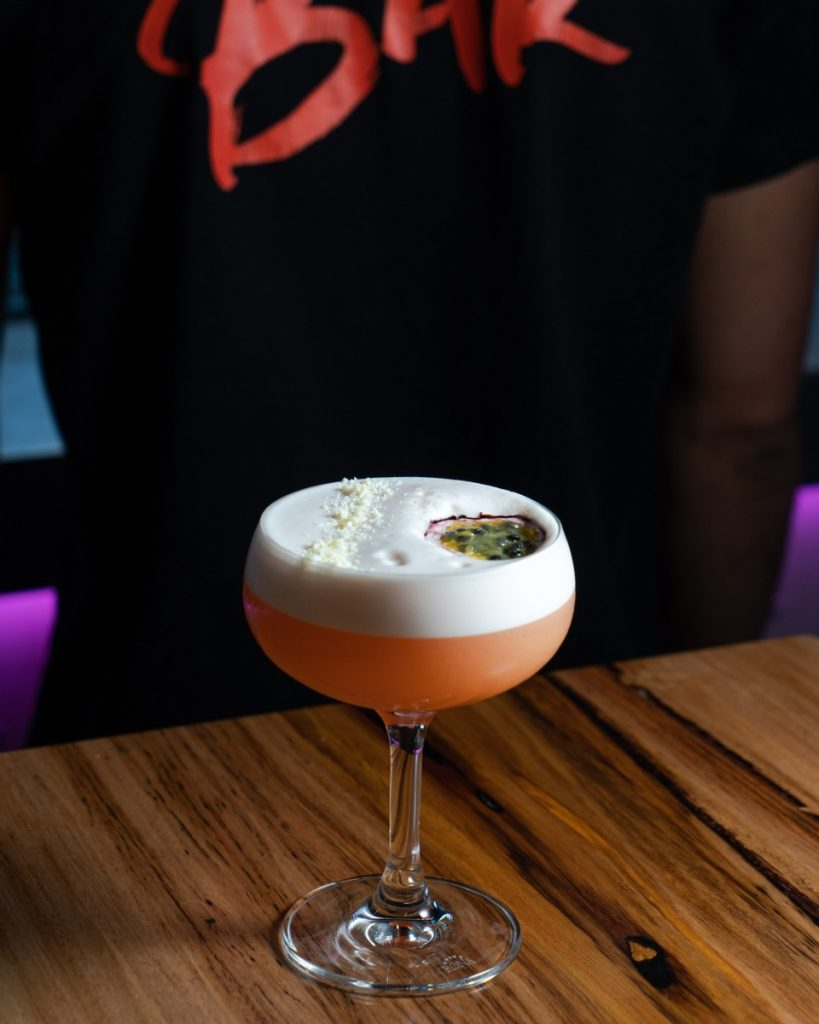 cocktails and burgers available at beer and burger bar